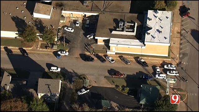 WEB EXTRA: SkyNews 9 Flies Over Bomb Threat At Lincoln Co. Courthouse