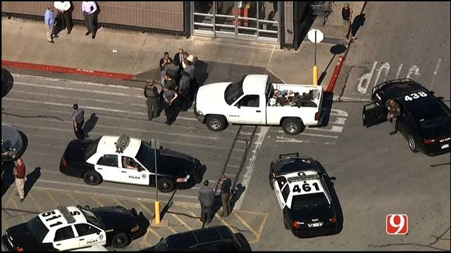 WEB EXTRA: Bob Mills SkyNews 9 HD Flies Over Search For Bank Robbery Suspect