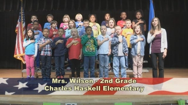 Mrs. Wilson's 2nd Grade Class At Charles Haskell Elementary School