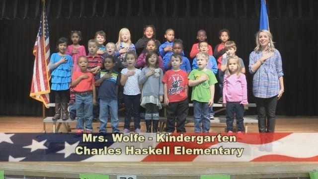 Mrs. Wolfe's Kindergarten Class At Charles Haskell Elementary School