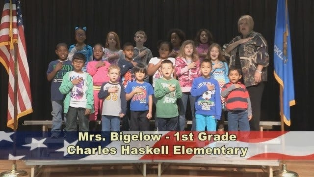 Mrs. Bigelow's 1st Grade Class At Charles Haskell Elementary School
