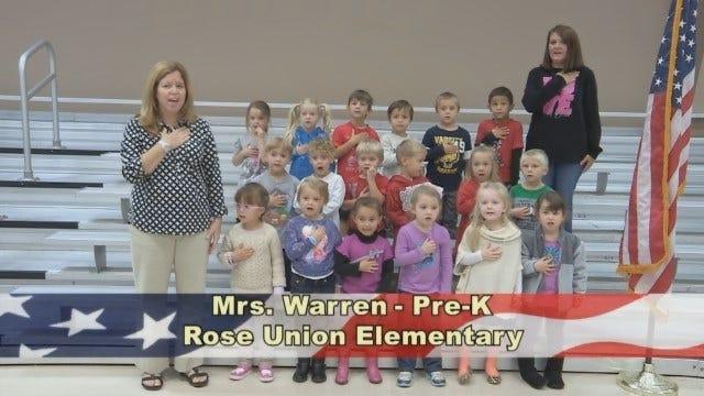 Mrs. Warren's Pre-K Class At Rose Union Elementary School