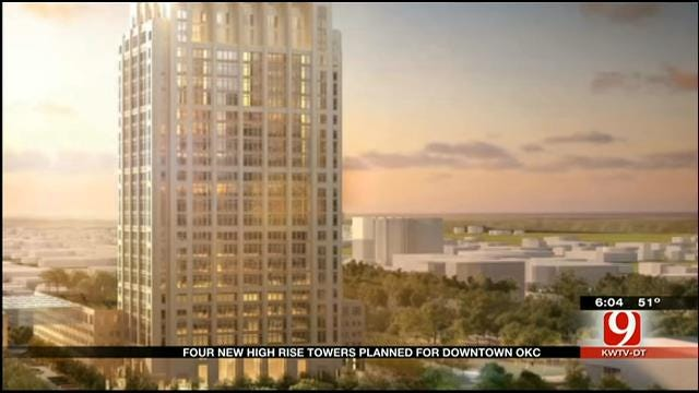 Four New High-Rise Towers Planned For Downtown OKC