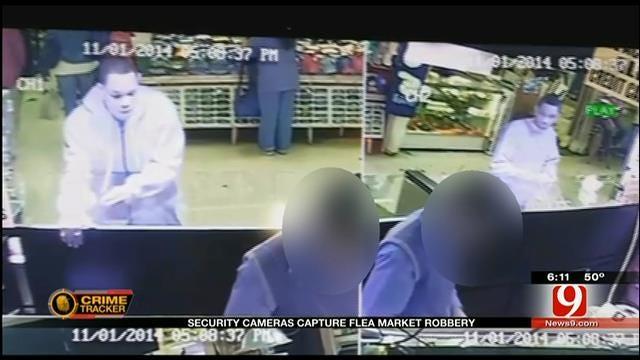 Security Cameras Capture OKC Flea Market Robbery