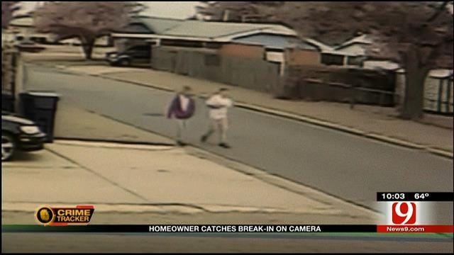 OKC Homeowner Catches Break-In On Camera
