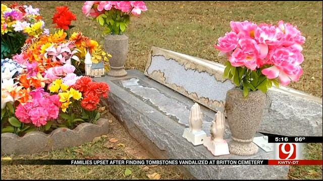 Families Upset After Finding Tombstones Vandalized At OKC Cemetery