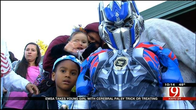 EMSA Takes Toddler With Cerebral Palsy Trick Or Treating