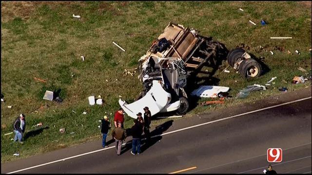Bob Mills SkyNews 9 HD Flies Over Scene Of Rollover Crash Near Lexington