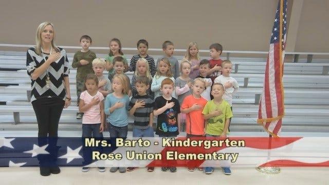 Mrs. Barto's Kindergarten Class At Rose Union Elementary.