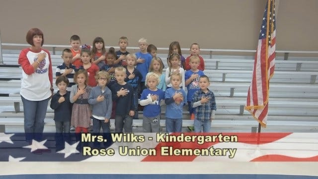 Mrs. Wilks' Kindergarten Class At Rose Union Elementary