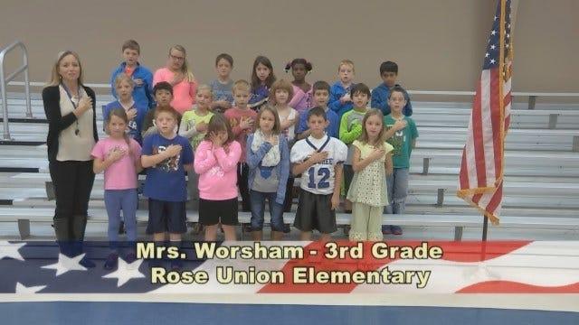 Mrs. Worsham's 3rd Grade Class At Rose Union Elementary