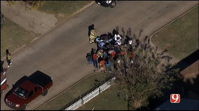 WEB EXTRA: SkyNews 9 Flies Over Auto-Ped Involving Child In SW OKC