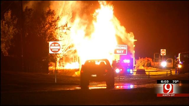 ONG Working To Determine Cause Of Gas Line Explosion Near Yukon