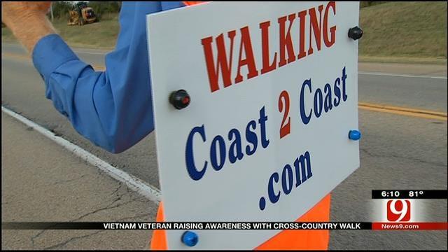 Vietnam Veteran Raising Awareness With Cross-Country Walk