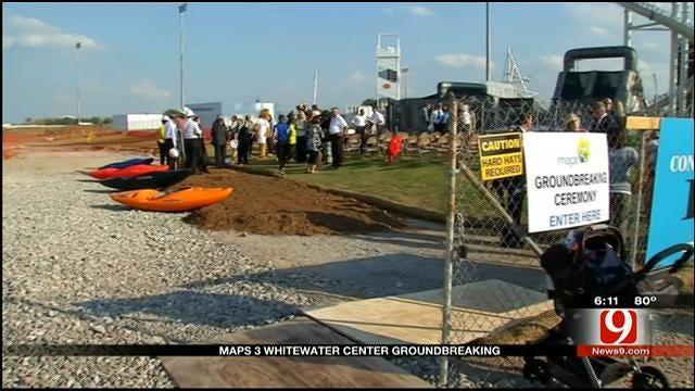OKC Officials Break Ground On MAPS 3 Whitewater Center