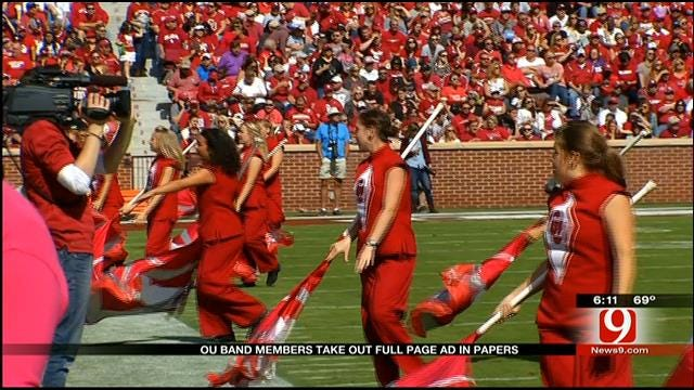 OU Band Members Take Out Full Page Ad In Papers