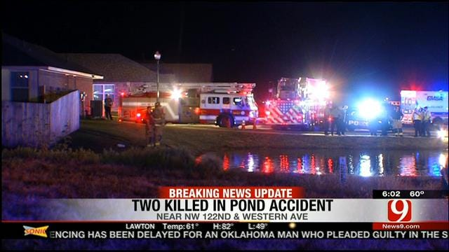2 Dead After Car Submerges In NW OKC Pond