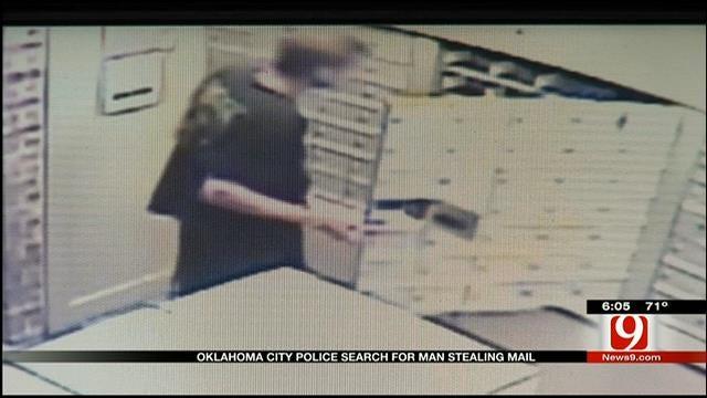 Metro Mail Thief Caught On Camera