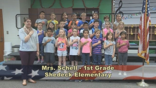 Mrs. Schell's 1st Grade Class At Shedeck Elementary School