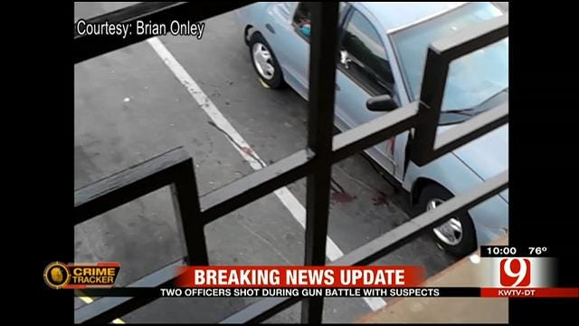 Officers Wounded In Gun Battle