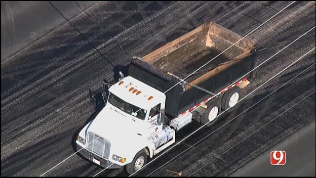 WEB EXTRA: Bob Mills SkyNews 9 HD Flies Over Dump Truck Accident