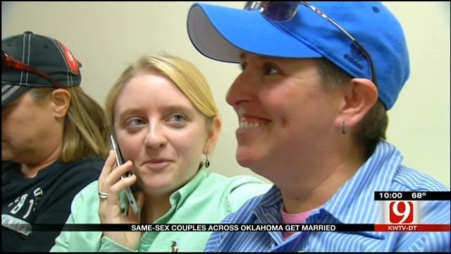 Same-Sex Couples Across Oklahoma Get Married