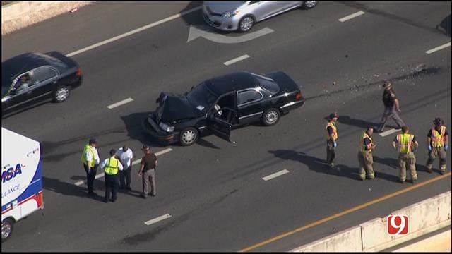 Crash Slows Traffic Near I-44, I-40 Northbound In OKC