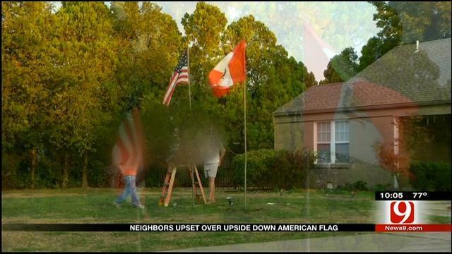 Warr Acres Residents Upset Over Upside Down American Flag