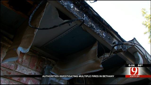 Bethany Authorities Investigate Possible Arsonist