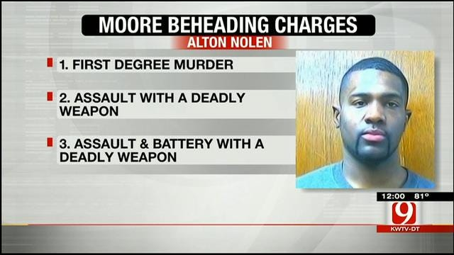 Charges Filed Against Suspect In Moore Workplace Beheading