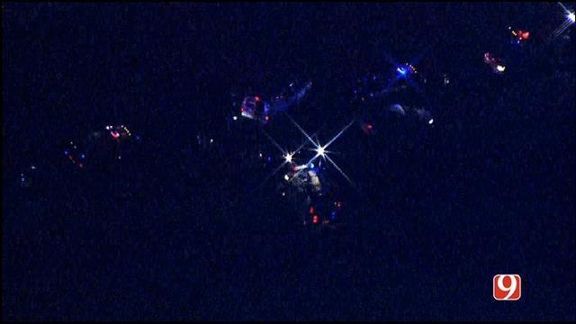 Bob Mills SkyNews 9 HD Flies Over Fatal Murray County Crash