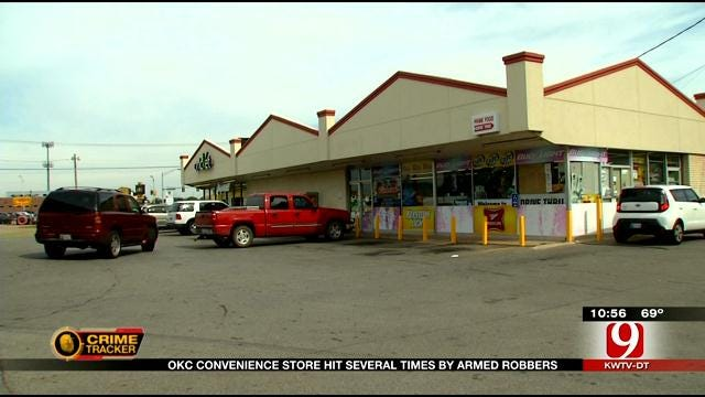 OKC Convenience Store Hit Three Times By Armed Robberies
