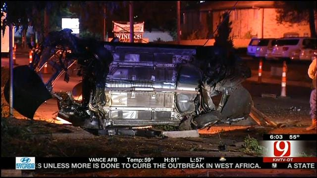 Carjacking Suspect Arrested Following Chase, Crash In OKC