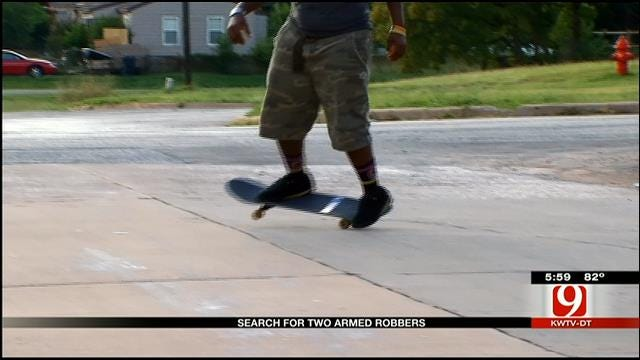 OKC Police Continue To Search For Armed Robbers