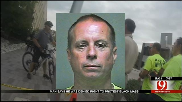 Man Says He Was Denied Right To Protest Black Mass