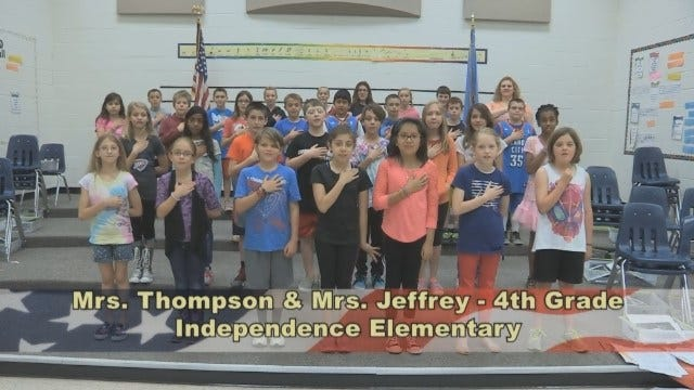 Mrs. Thompson & Mrs. Jeffrey's 4th Grade Class At Independence Elementary School