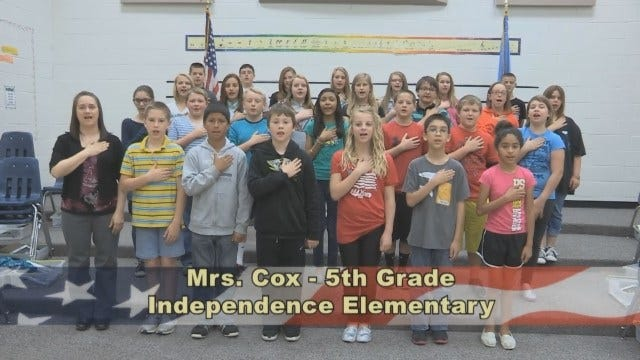 Mrs. Cox's 5th Grade Class At Independence Elementary School