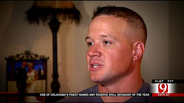 One Of Oklahoma's Finest Named Army Reserve 'Drill Sergeant Of The Year'
