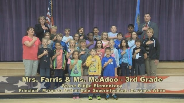 Mrs. Fariss and Ms. McAdoo's 3rd Grade Class at Stone Ridge Elementary School