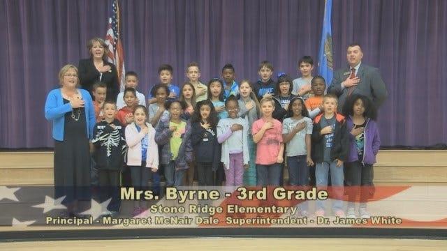Mrs. Bynre's 3rd Grade Class at Stone Ridge Elementary School
