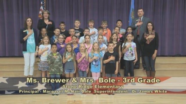 Ms. Brewer and Ms. Bole's 3rd Grade Class at Stone Ridge Elementary School