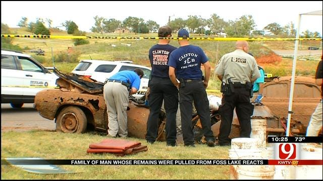 Family Reacts After Man's Remains Were Pulled From Foss Lake