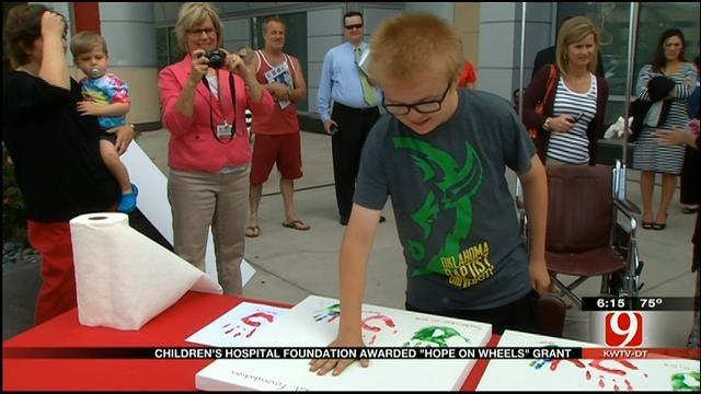 Children's Hospital Foundation Awarded 'Hope On Wheels' Grant