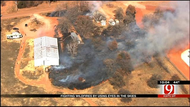 Fighting Oklahoma Wildfires With An Eye In The Sky