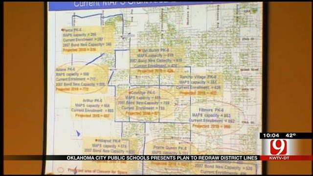 OKC Public Schools Presents Plan To Redraw District Lines