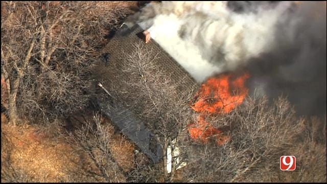 WEB EXTRA: Firefighters Put Out House Fire In NW OKC
