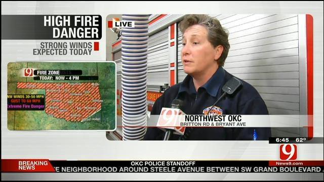 OKC Firefighters Preparing For High Fire Danger Thursday
