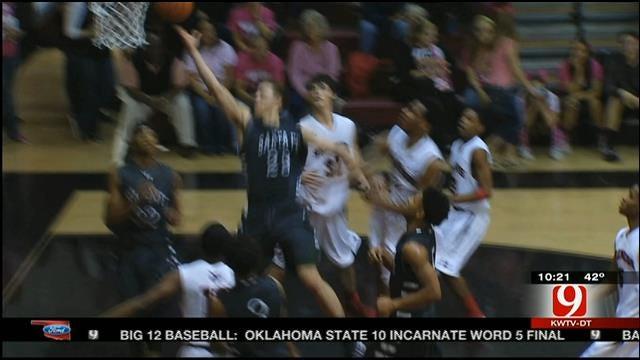 High School Basketball: Edmond Santa Fe Vs. Mustang