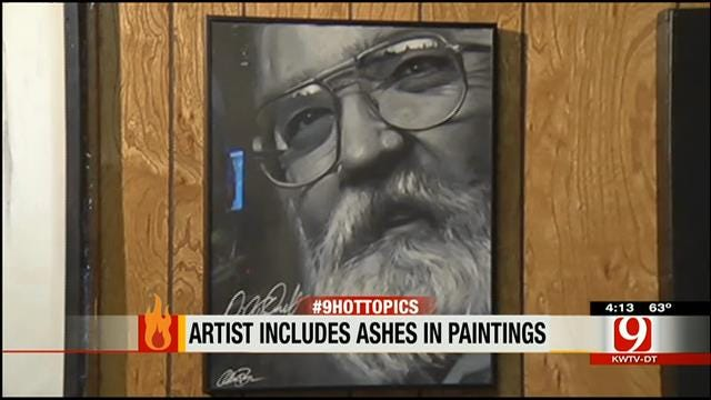 Hot Topics: Artist Includes Ashes In Paintings