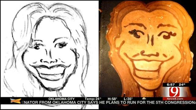 OKC Dad Creates Pancake Art For News 9 Anchors